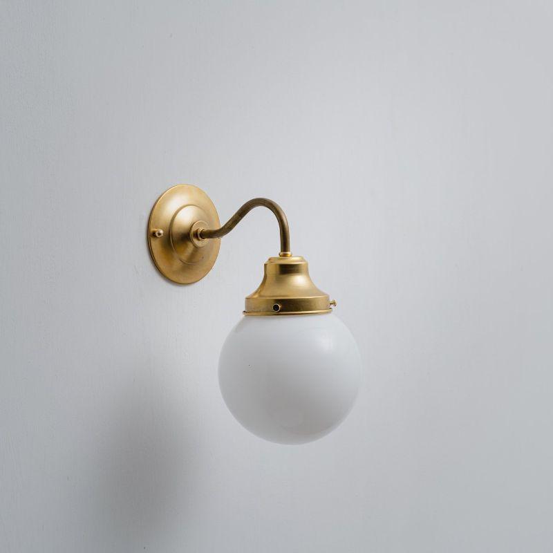 真鍮ガラスシェードブラケットランプ